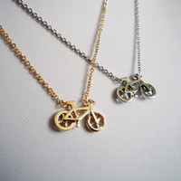 Tiny Bike Necklace in Gold - Simple, Chic, Minimalist Jewelry, Holiday Gift Special, Fall Winter 2013