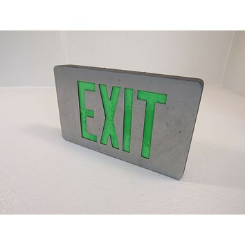 Cooper Lighted Exit Sign Single Side 120 VAC 277 VAC LED CAX-61000 -- Used