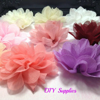 You pick textured chiffon flower - wholesale chiffon flower - wedding flower - diy headband flower - wholesale flowers - fabric flower