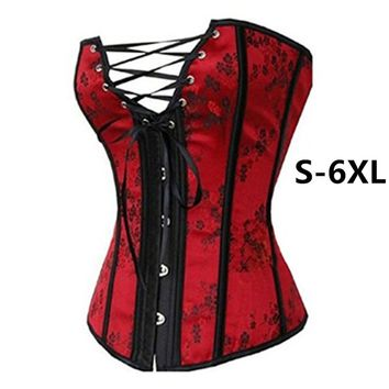 Sexy Red Waist  Lace Up Corset