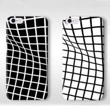 Creative Twisted Grid Pattern Silicone Iphone 7 se 6s 5 6 Plus Cases Best Gift