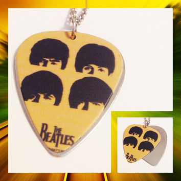 Free Shipping US only | The Beatles  Guitar pick necklace | The Beatles necklace | guitar pick necklace