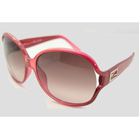 Fendi FS5070-603 Women's Crystal Red Plastic Frame Polycarbonate Brown Gradient Lenses Sunglasses