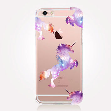 Transparent Unicorn iPhone Case - Transparent Case - Clear Case - Transparent iPhone 6 - Transparent iPhone 5 - Transparent iPhone 4