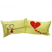 """Couple Gifts Land: : """"Couple Fed Love"""" Couple Pillowcases-romantic Valentines Gifts for Couples, Cute Valentines Day Gift Ideas, Good Couple Gifts for Valentines, Romantic Anniversary Gifts (Wedding Gift for the Couple)"""