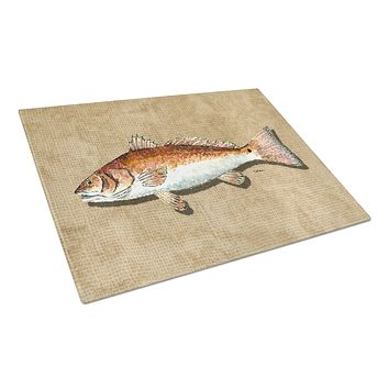 Red Fish Glass Cutting Board Large