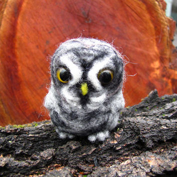 Needle felted Great Grey owl