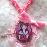 Torture Couture DOLL, Callow Lily Necklace, Barbie, Kawaii, Gothic, Cosplay NECKLACE, Harajuku, Scene, Punk, Psychobilly