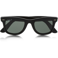Ray-Ban - The Wayfarer leather-covered acetate sunglasses