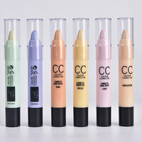 New Brand Face Makeup CC Color Corrector Hide Blemish Concealer Cream Pen Pencil Contour Corretivo Stick Camouflage Palette