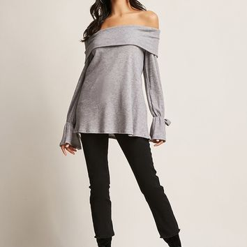 Marled Off-the-Shoulder Top