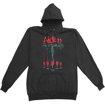 Aiden Men's  Hooded Sweatshirt Black