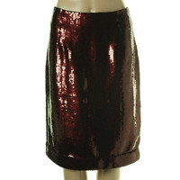 Marc Jacobs Womens Sequined Knee-Length Pencil Skirt