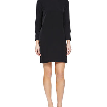 Grainne Modern Shift Dress, Black, Size: