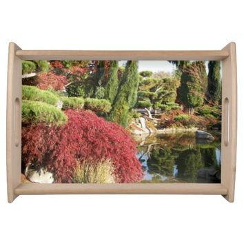 Tranquil Garden Photo Serving Tray