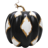STYRO. PUMPKIN DECOR - BLACK