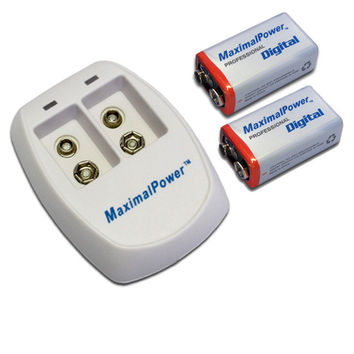 2x 9V Rechargeable Li-ion Batteries + DUAL Charger Combo Kit