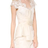 NOTTE by MARCHESA - Lace Cap Sleeve Cocktail Dress