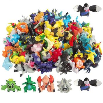 48pcs/lot Pikachu Pokeball Figure 2-3cm Pocket Monster Anime Toys Eevee Espeon Umbreon Glaceon Vaporeon Figurines