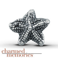 Charmed Memories Starfish Charm Sterling Silver