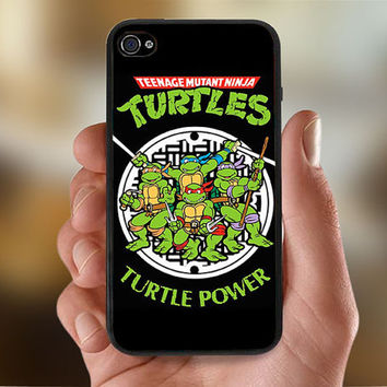 Teenage Mutant Ninja Turtles Hero  - Photo Print for iPhone 4/4s Case or iPhone 5 Case - Black or White