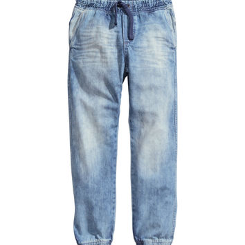 H&M - Loose Jeans - Denim blue - Kids