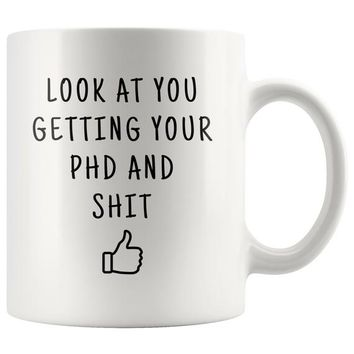 PHD Graduate Gift, doctorate degree, gift for phd, new phd gift, phd graduation, doctoral degree gift, funny gag gift, phd coffee mug gifts