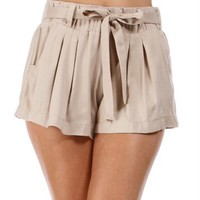 Stone Tie Front Shorts