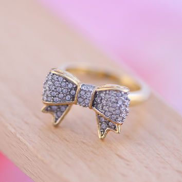 New Arrival Gift Shiny Stylish Accessory Butterfly Simple Design Jewelry Ring [4989646788]