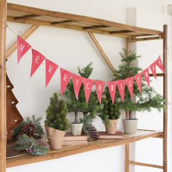 Merry Christmas Bunting Flag