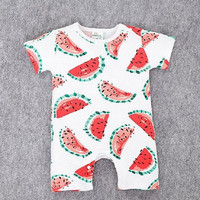 Romper Watermelon Cotton Short Sleeve Jumpsuit