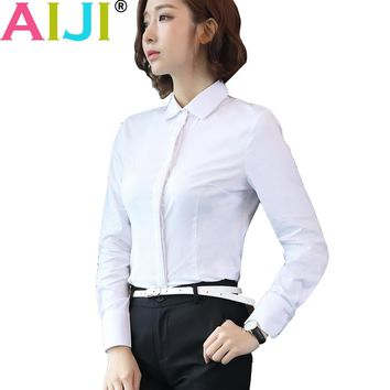 women blouses white chiffon blouse autumn work blusa feminina tops long sleeve chemise femme woman shirts office plus size 4XL