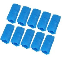 uxcell Plastic Disposable Shoes Cover 100 Pieces Blue