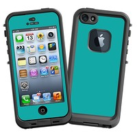 Turquoise Skin  for the iPhone 5 Lifeproof Case by skinzy.com