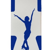 ICE SKATING PLASTIC & SILICONE BLUE/WHITE CASE FOR IPHONE 5, SKATER COVER- LIFETIME WARRANTY