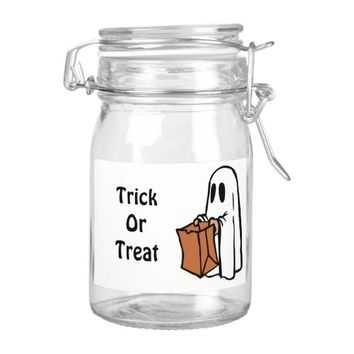 Trick or Treat Halloween Ghost Food Label