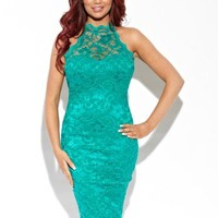 Amy Childs Lola Lace Halter Dress
