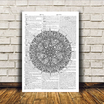 New Age print Mandala poster Sacred Geometry art Wall decor RTA97