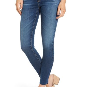 AG The Legging Raw Hem Ankle Skinny Jeans (12 Years Blue Dust) | Nordstrom