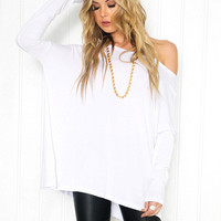 Chic Brocade Long Sleeve T-Shirt for Women