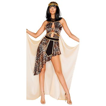 Sexy Exotic Cleo Egyptian Queen Mini Dress Costume
