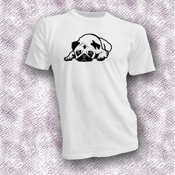 Pouting Pug dog animal lover black pugs cute puppy unisex shirt, pug dog gift ideas, pug lover apperal, gift for her, gift for him