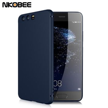 NKOBEE Huawei P10 Case Silicone Soft TPU Cover For Huawei P10 Luxury Huawei P10 Plus Case Phone Coque For Huawei P10 Lite Case