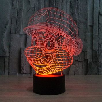 Creative LED Visual Colorful Touching Ombre 3D Night Light