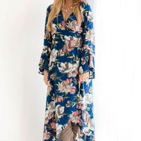 Big Flower Wrap Maxi