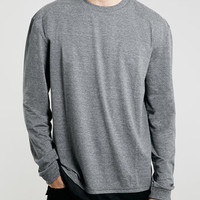 GREY LAYERED LONGSLEEVE T-SHIRT