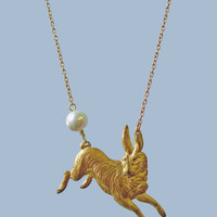 Cottontail Hare Necklace | Eclectic Eccentricity Vintage Jewellery