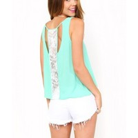 Braided Back Woven Top