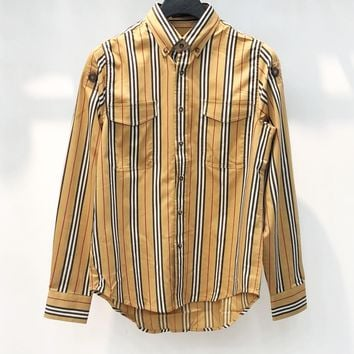 BURBERRY Popular Women Men Casual Plaid Long Sleeve Lapel Shirt Top