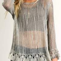 Crochet Top With Scallop Hem
